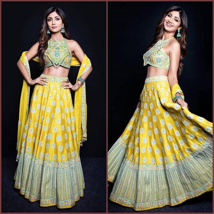 हाल ही में शिल्पा ने अपिता मेहता (Arpita Mehta) द्वारा डिजाइन किया लहंगा पहना था, जिसमें वह बेहद स्टनिंग लग रही थी।