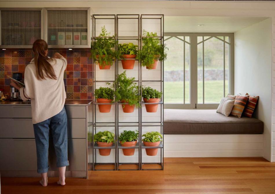 आप स्टैंड में गमले लगाकर किचन में रख सकते हैं। इससे किचन फ्रैश भी रहेगी और सुदंर भी दिखेगी।