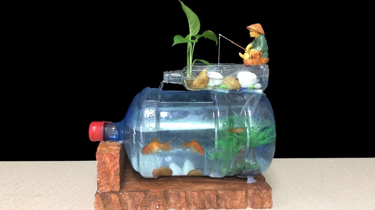 घर पर खुद प्लास्टिक की बोतल से बनाएं क्रिएटिव एक्वेरियम