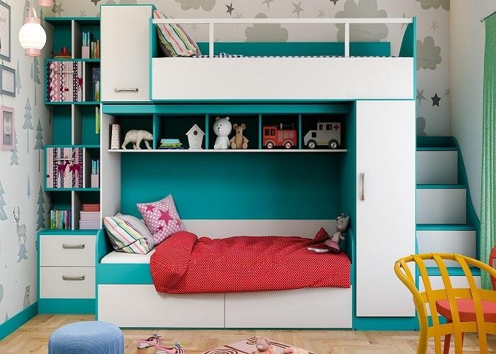 कमरे की स्पेस बचाने के लिए ऐसे बेड को लगाया भी जा सकता है।