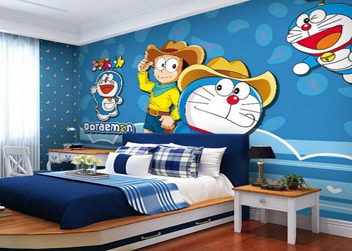 दीवारों पर कार्टून करेक्टर रूम को एक अलग लुक देंगे।