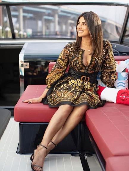 प्रियंका की इस ड्रेस की कीमत 2,95,046 रुपए है।