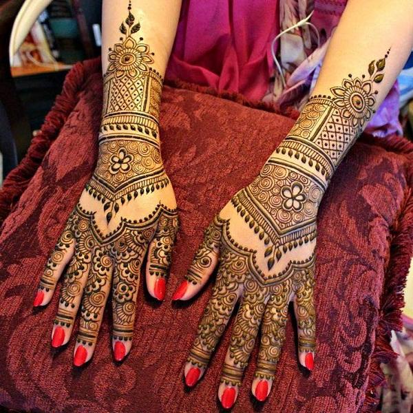 PunjabKesari, Mehndi Designs Images, Best Bridal Mehndi Designs Images For Hand बेस्ट ब्राइडल मेहँदी डिज़ाइन इमेज फॉर हैंड