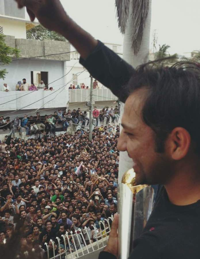 पाकिस्तानी खिलाड़ियों का स्वदेश में जोरदार स्वागत