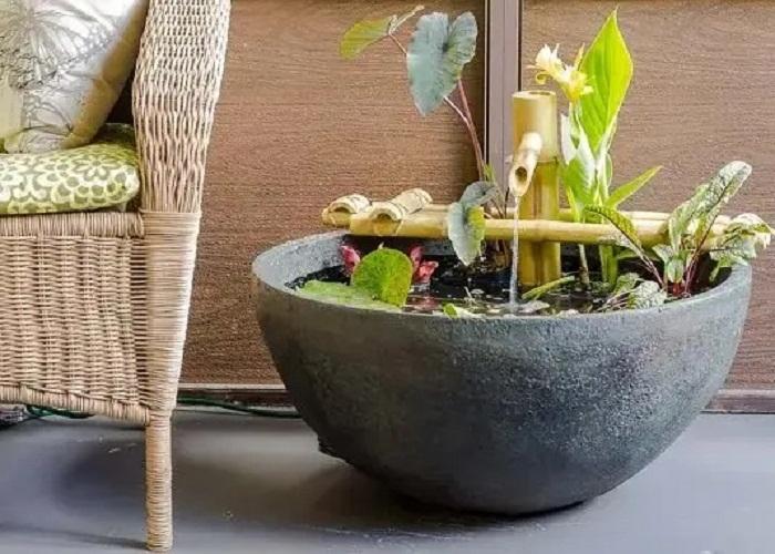 वॉटर गार्डन के साथ आप फाउंटेन वाला सेंटरपीस चुन सकते हैं। आप चाहें तो इसे सीढ़ियों के नीचे या घर के कोने में भी लगा सकते हैं।