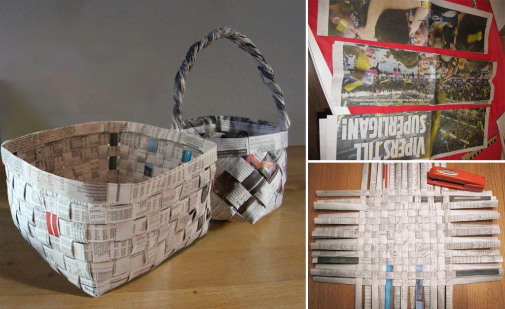 बच्चों के साथ मिलकर आप अखबार से टोकरी भी बना सकते हैं। यह बच्चों के लिए एक कूल प्रोजेक्ट हो सकता है।