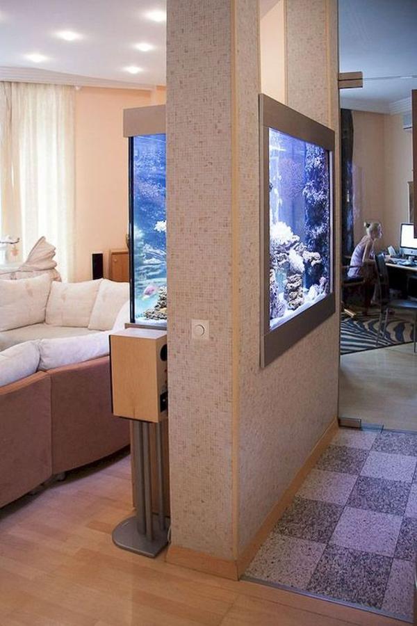 एक्वेरियम ना सिर्फ वास्तु के हिसाब से घर की लुक व दशा बदलता है बल्कि इसे आप कमरे के डिवाइडर के रूप में भी यूज कर सकते हैं।