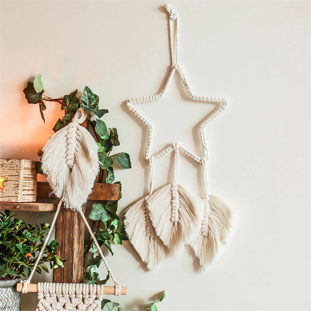 मैक्रों सजावट को बुनाई और हिचिंग की कपड़ा कला के रूप में भी जाना जाता है, जो बोहेमियन या स्कैंडिनेवियाई शैलियों का हिस्सा है।