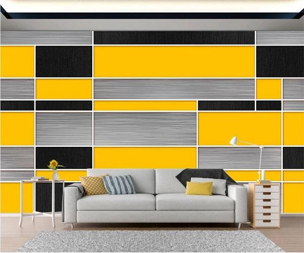 इस तरह से दीवारों पर यैलो-ग्रे की टाइल्स भी सुंदर लगेगी।