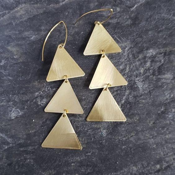 Multi Triangle Earrings