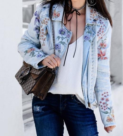 फ्लोरल डिजाइन जैकेट्स