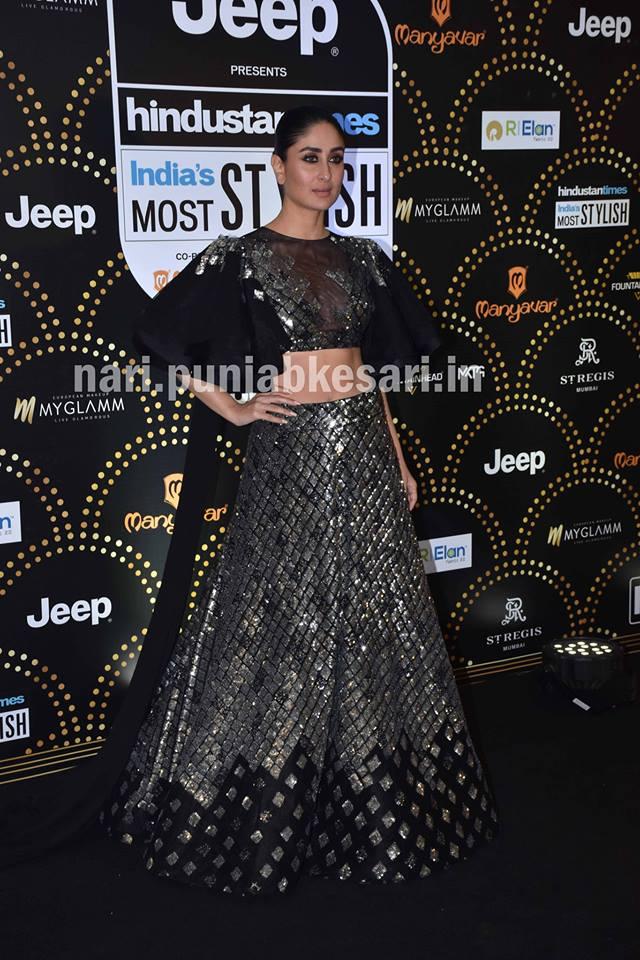 एक्ट्रेस करीना कपूर खान डिजाइनर मनीष मल्होत्रा के ब्लैक आउटफिट में नजर आईं। कुछ फैन्स को उनका लुक पसंद नहीं आया और उन्होंने उन्हें नागिन कह दिया।
