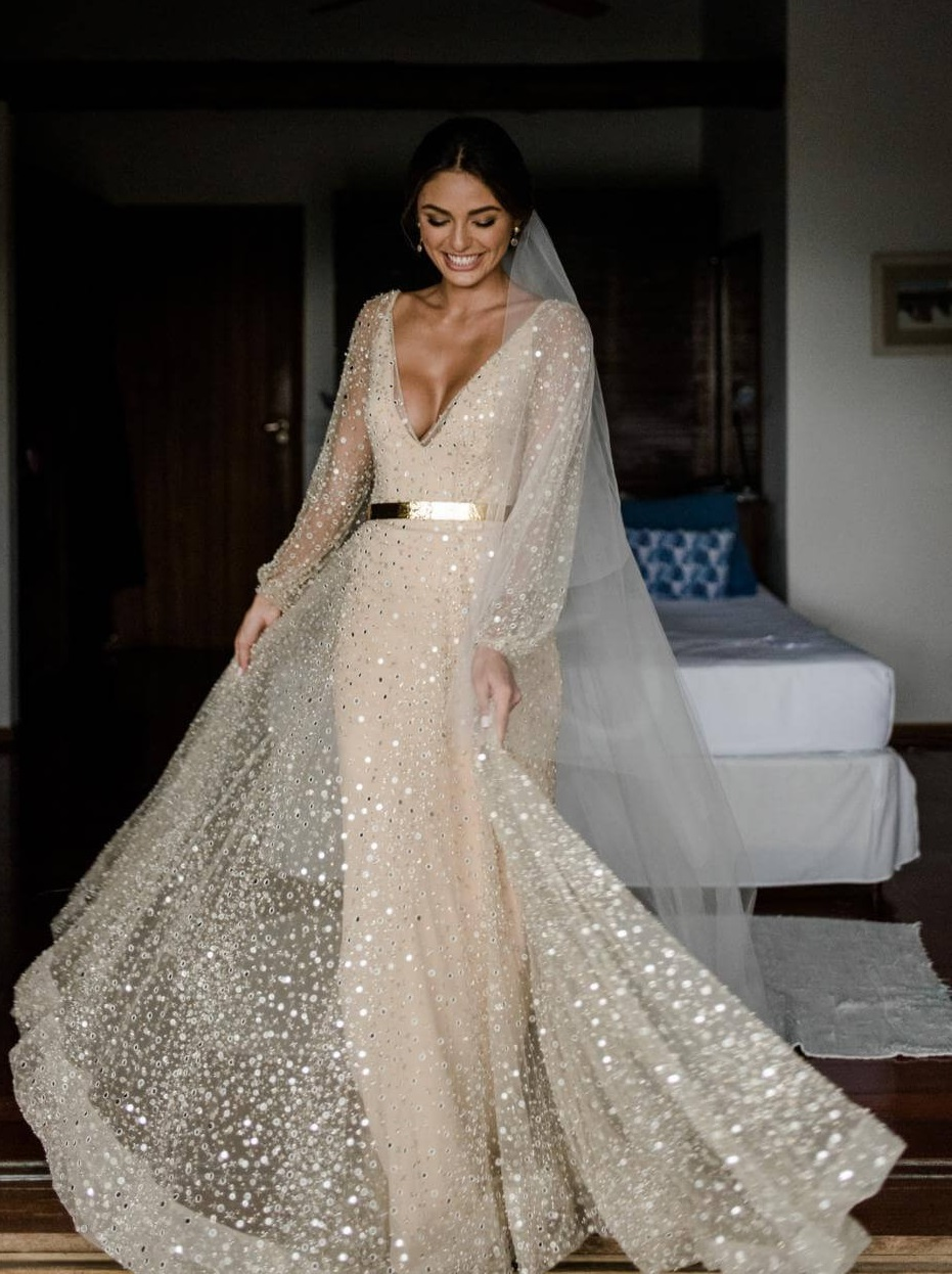 Mirror Design wedding gown