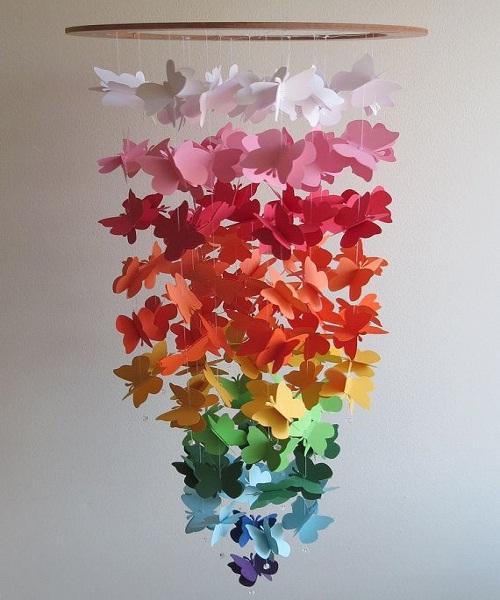 बच्चों को कागज के फूल बनाना खूब आता है। मगर फूलों की जगह रंग-बिरंगी तितलियां बनाना भी सही रहेगा।