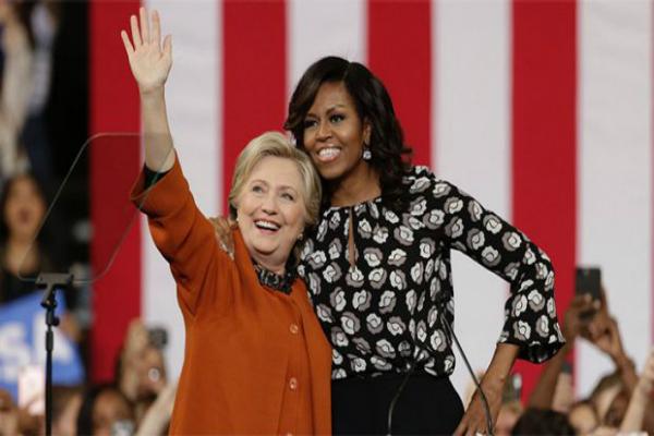 चुनाव प्रचार में क्लिंटन को मिला मिशेल का साथ