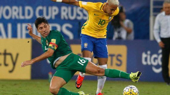ब्राजील ने बोलिविया को 5-0 से पीटा