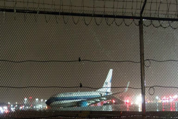 उपराष्ट्रपति पद के उम्मीदवार का विमान न्यूयार्क के रनवे पर फिसला(Pics)
