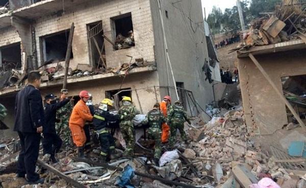 चीन में भीषण विस्फोट, 14 की मौत, 147 घायल