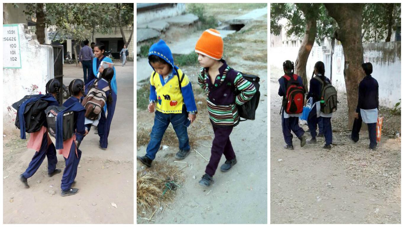 बैगलैस-डे की सप्ताह के पहले दिन ही निकली हवा, ज्यादातर स्कूलों में बैग के साथ पहुंचे बच्चे