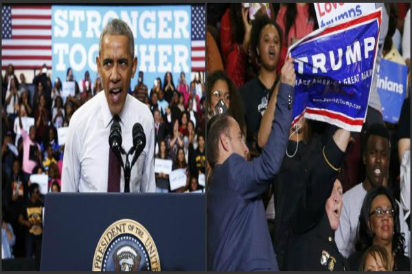 ओबामा ने किया ट्रंप समर्थक का बचाव(Pics)