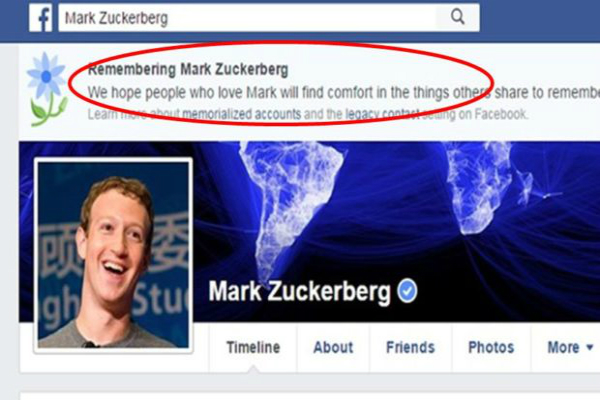 फेसबुक ने मार्क जुकरबर्ग सहित 20 लाख लोगों को किया मृत घोषित!