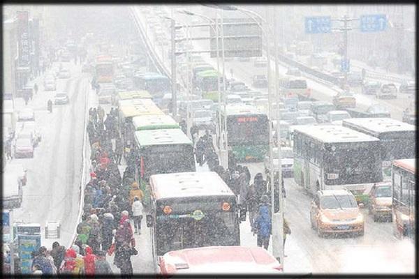 चीन में बर्फीले तूफान का कहर