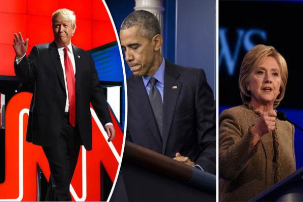 ट्रंप के साथ मिलकर काम करने का ओबामा और हिलेरी का संकल्प