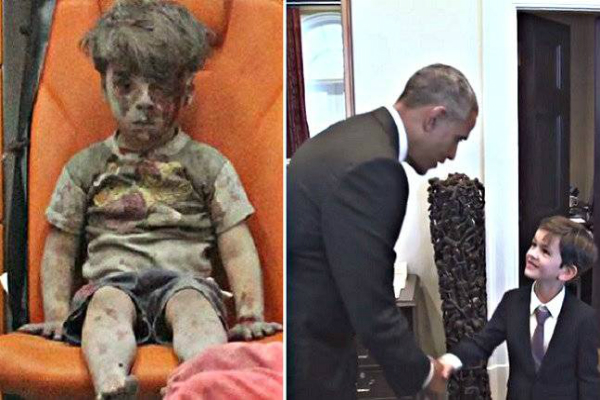 सीरियाई युद्ध की पीड़ा लेकर ओबामा से मिलने पहुंचा ये बच्चा(Pics)