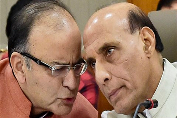 नोट पर पाबंदी: राजनाथ, जेतली ने देश भर की स्थिति की समीक्षा की