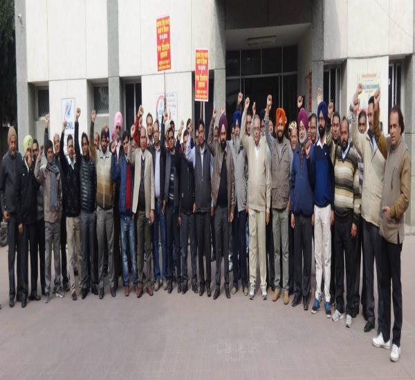 BSNL की कर्मचारी विरोधी नितियों के खिलाफ की नारेबाजी