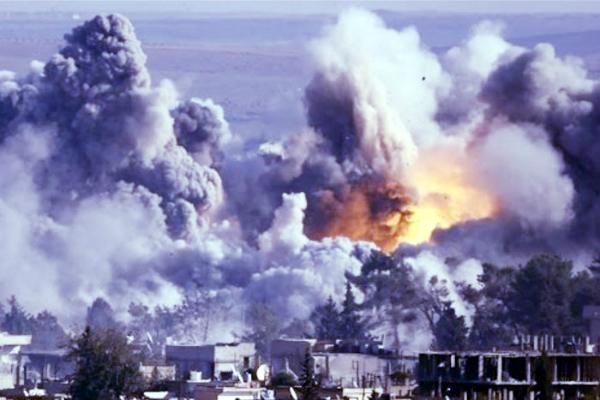 सीरिया में हवाई हमला के लिए चित्र परिणाम