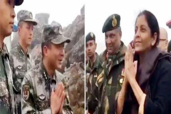 रक्षामंत्री के 'नमस्ते' स्टाइल का चीन भी हुआ कायल, सोशल मीडिया पर हो रही तारीफ