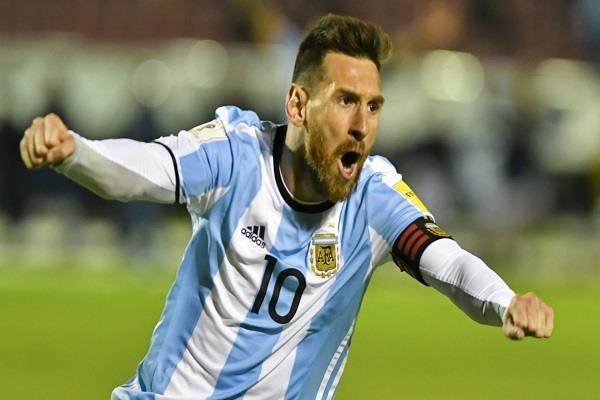 'मैजिकल' मैसी की शानदार हैट्रिक, अर्जेंटीना को मिला विश्वकप का टिकट