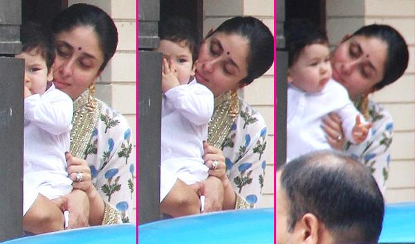 kareena with taimur diwali puja