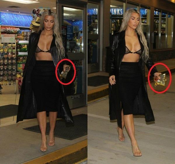 kim kardashian in bold look