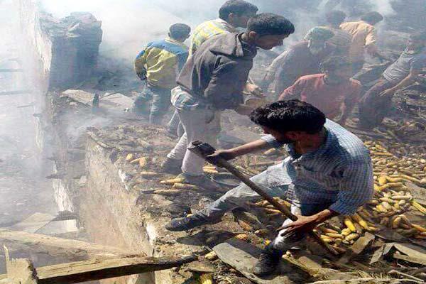 भीषण अग्निकांड : राख के ढेर में बदला आशियाना, बेघर हुए 4 परिवार