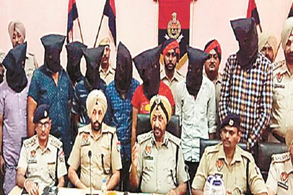 सुपारी किलर गैंगस्टर राजीव राजा गैंग के 8 सदस्य गिरफ्तार