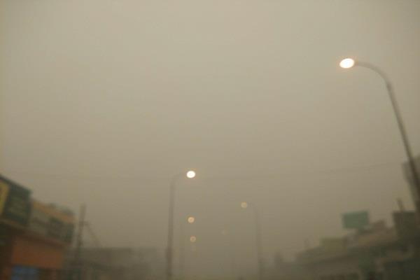 हफ्ते बाद सूर्य देवता के हुए थे दर्शन,धुएं ने लोगों की उम्मीदों पर फेरा पानी