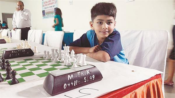 राष्ट्रीय अंडर-9 शतरंज चैम्पियनशिप-2017,जालंधर के विदित ने इलमपार्थी को  हराकर किया उलटफेर