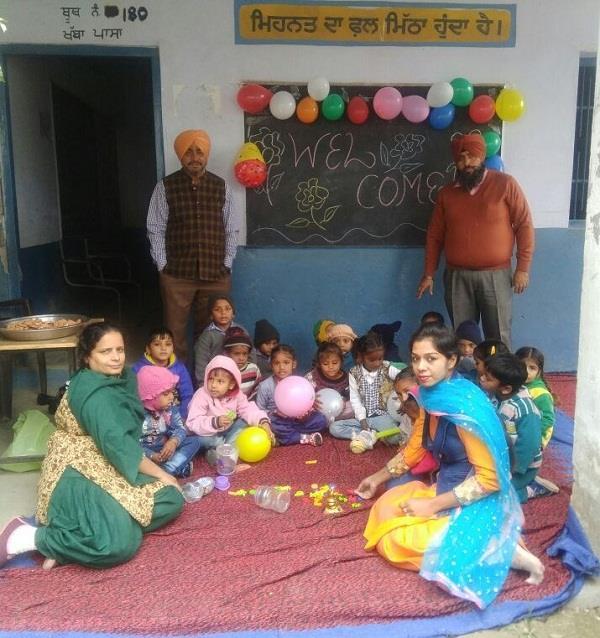 सरकारी स्कूलों में सफलतापूर्वक शुरू हुई प्री-प्राइमरी कक्षाएं