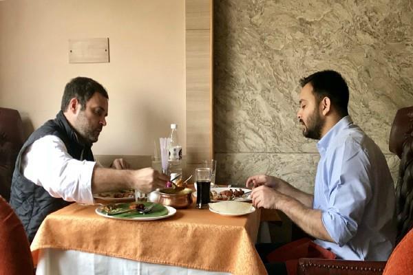 तेजस्वी के साथ राहुल ने किया लंच, राजनीतिक गलियारे में मची हलचल