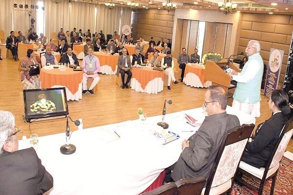 टिंबर ट्रेल में हरियाणा का भविष्य बुन रही सरकार, CM ने किया 3 साल के कार्यों का गुणगान