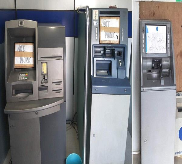 कैश की दिक्कत, अधिकांश ATM ठप्प, लोग परेशान