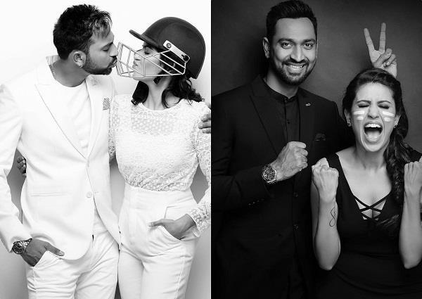 krunal pandya cricket themed pre wedding photoshoot