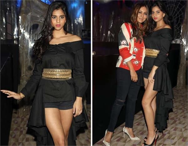 suhana khan in club party