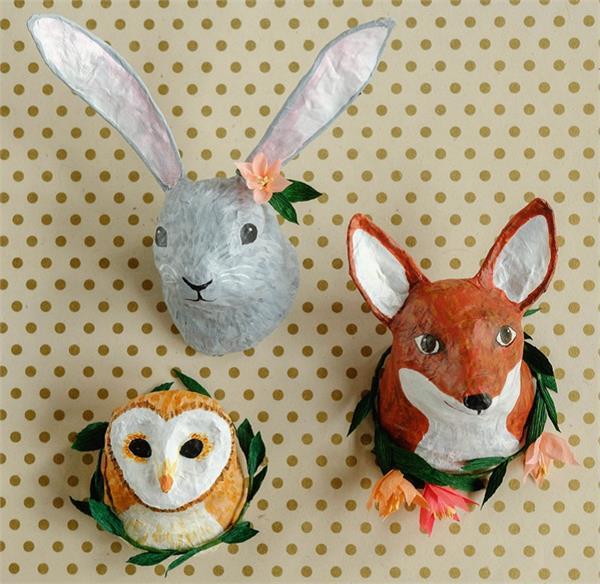 अखबार की मदद से बनाएं खूबसूरत और यूनिक Animal Heads Craft