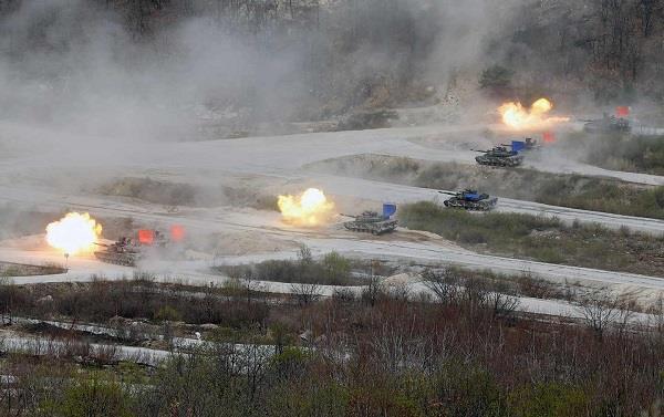 अमरीका- दक्षिणकोरिया का सबसे बड़ा संयुक्त सैन्य अभ्यास शुरू