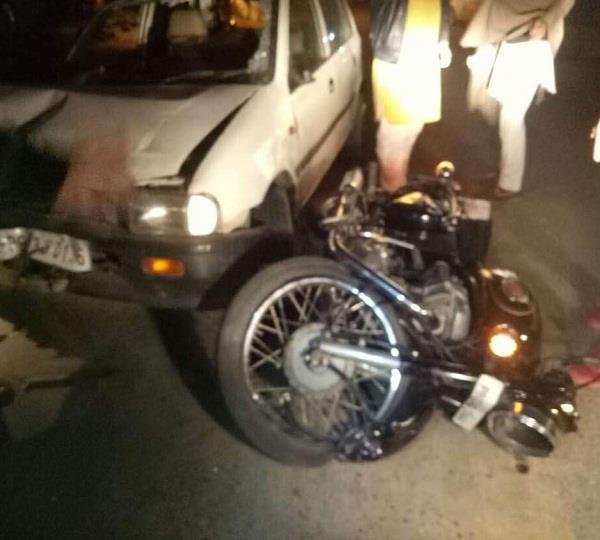 विभिन्न सड़क हादसों में 4 घायल