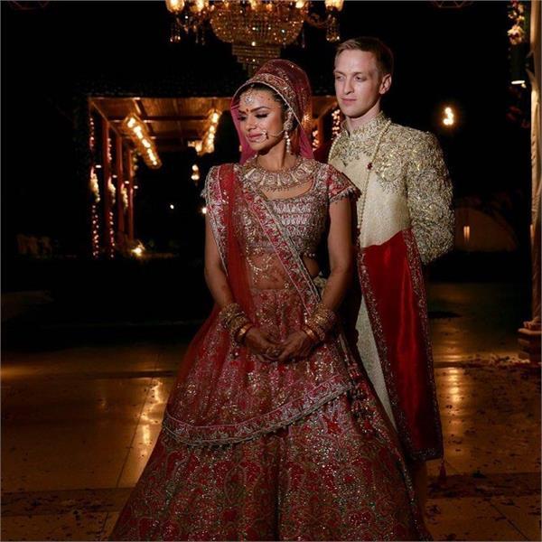 टी.वी स्टार आशका गोरड़ीया ने अपने मंगेतर ब्रेंट गोबले से की शादी