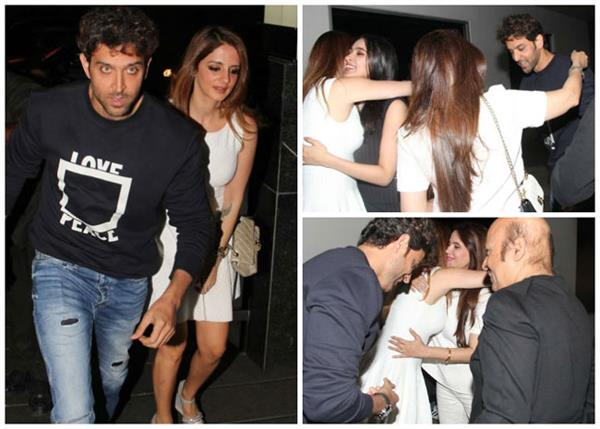 hrithik roshan with ex wife sussanne khan celebrate his birthday